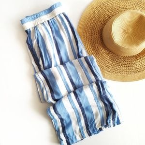 Drew | Anthropologie Blue Stripped Flowy Pants